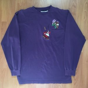 Vtg Disney Seven Dwarfs Front Pocket Long Sleeve